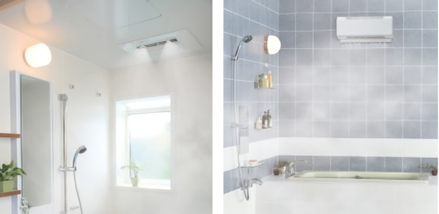 左:天井設置型/右:壁掛設置型
