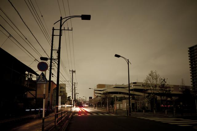 停電した街の様子