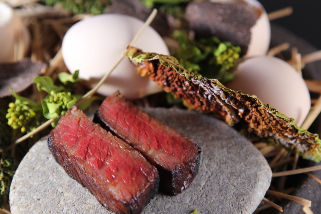 和牛の含め煮焼き