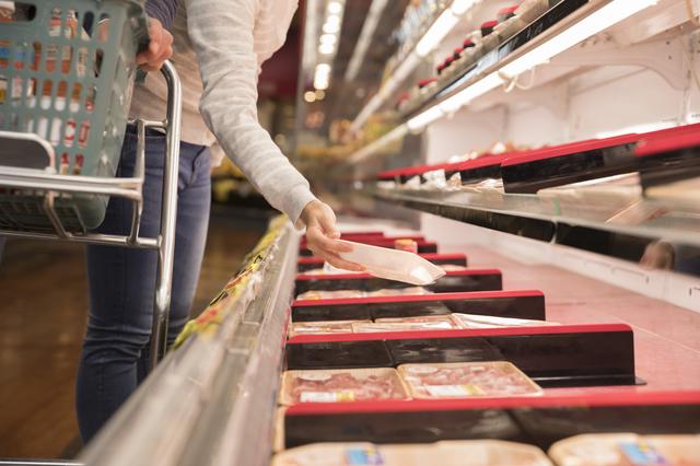 スーパーの肉売り場