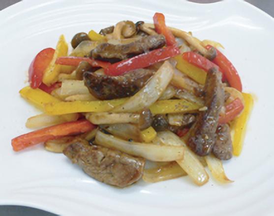 洋葱炒牛柳(ヨンチョンチャウガウラウ)~牛フィレ肉と玉ねぎの黒豆炒め~