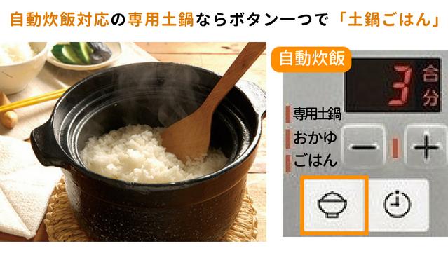 ガスコンロの自動炊飯機能
