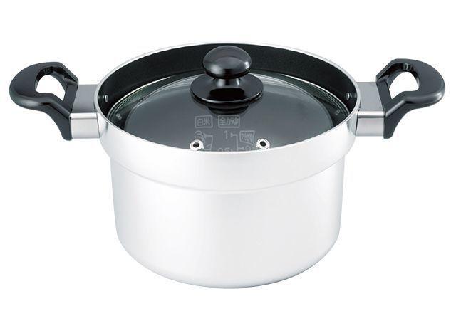 リンナイ・文化鍋タイプ「ガラスふた炊飯鍋」
