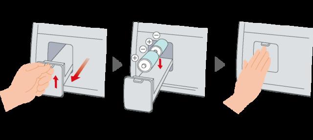 ガスコンロの乾電池のセットの仕方