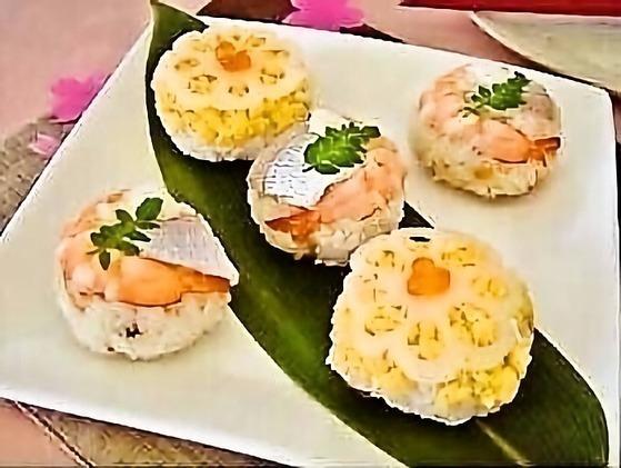華やか手毬寿司