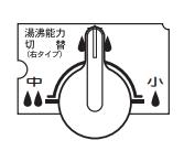 湯沸能力切替つまみ