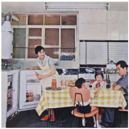 昭和時代の食卓風景