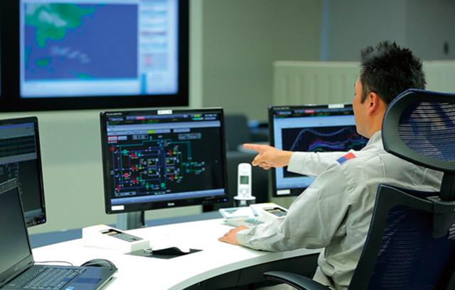 ガス供給状況の監視・コントロール