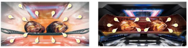 調理中のグリル内部のイメージ