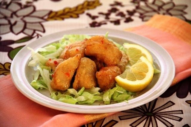 鶏のから揚げ スイートチリマヨソース