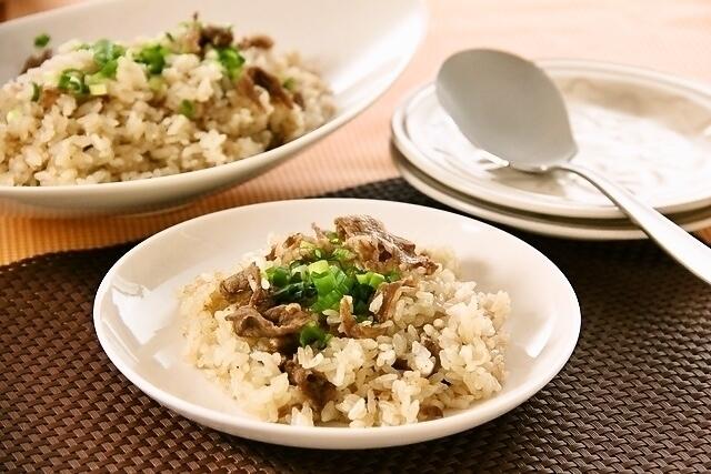 牛肉のスタミア炊き込みご飯
