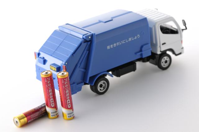 アルカリ乾電池、マンガン乾電池を使い終えたら