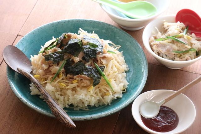 大豆モヤシの炊き込みご飯