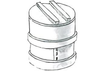 丸形和蒸籠