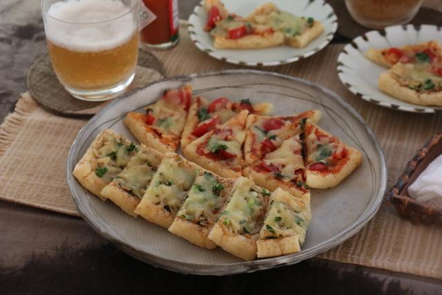 油揚げピザ2種