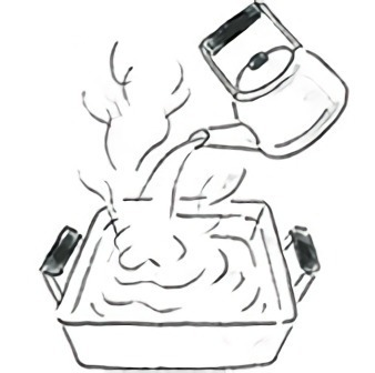 鍋型蒸し器の取り扱い方法