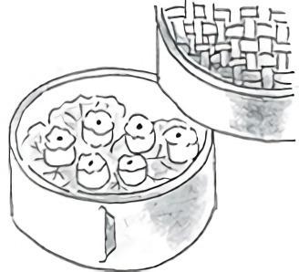 底にキャベツや白菜を敷くと材料がくっつかない