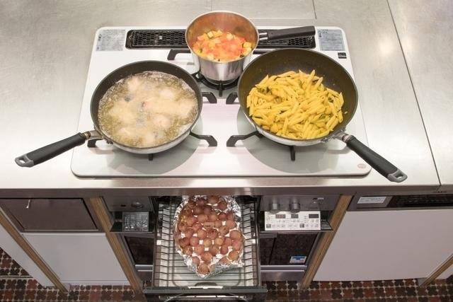 ガスコンロ・グリルを使って調理