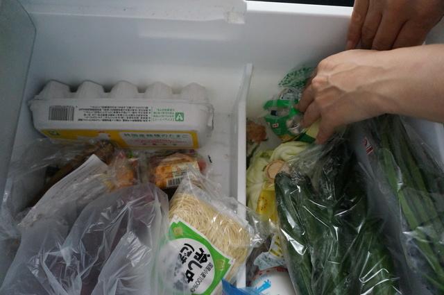 ごちゃごちゃした冷蔵庫の中