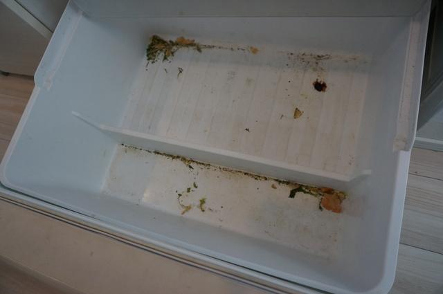 野菜室の汚れ