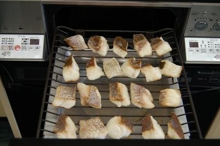 白身魚をグリルで焼く