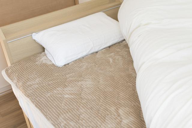 冬仕様のベッド