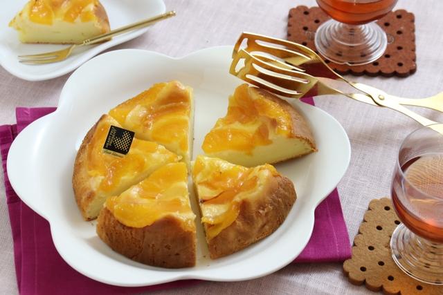 黄桃のチーズケーキ