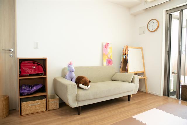 ソファ横のお仕度スペース