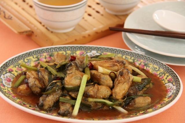 カキの煎り焼き唐辛子炒め