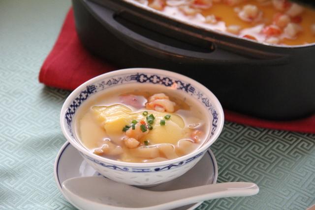 中華風茶碗蒸し 海老ホタテあんかけ