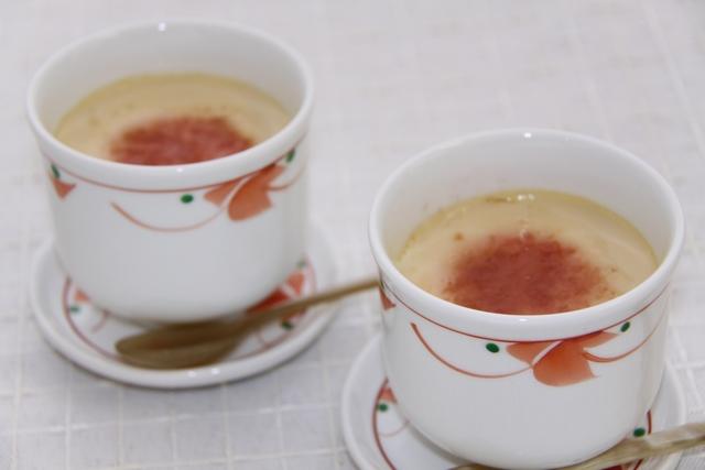 豆乳入り茶碗蒸し~梅だれ添え~