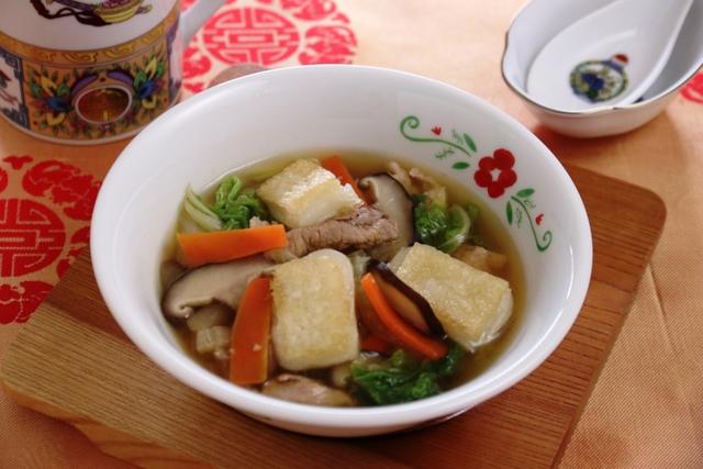 焼き餅の中華スープ