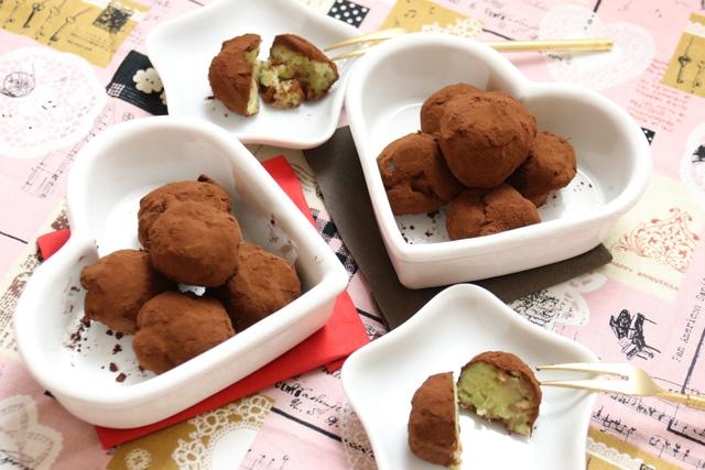 さつま芋とチョコフレークのココアボール