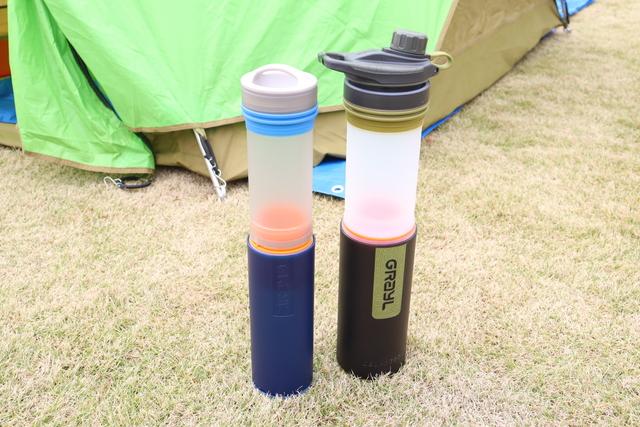 浄水ボトル「UL.ウォーターピュリファイヤーボトル/ジオプレスピュリファイヤー(グレイル)」
