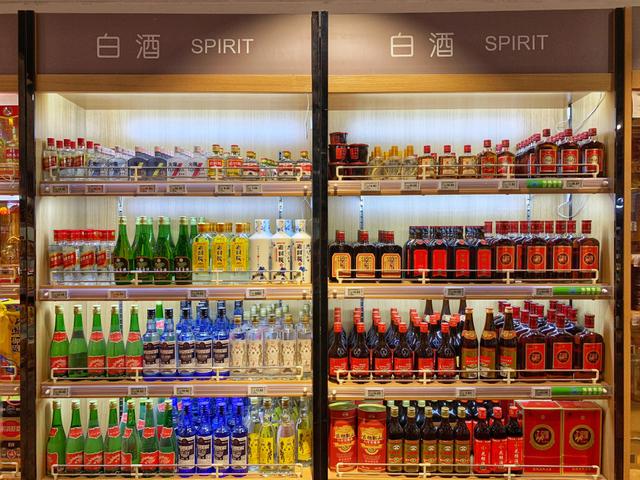 中国の白酒売り場