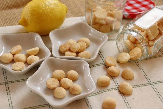 レモン風味の卵ボーロ