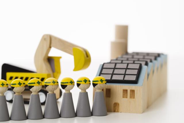 工事の模型