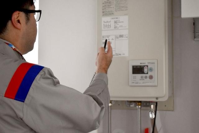 ガス栓の位置とガス機器を確認