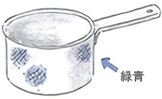 青錆のついた銅鍋