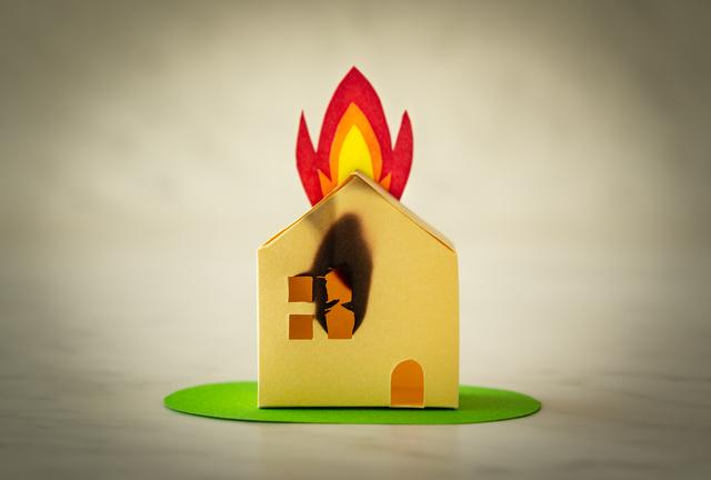 火事の家のイメージ