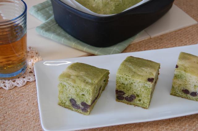 抹茶入りケーキ蒸しパン