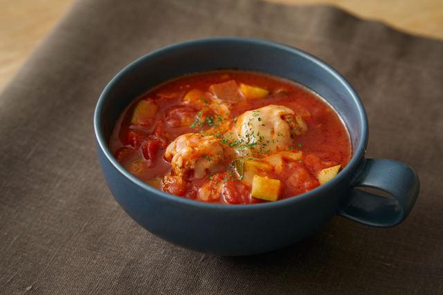 「鶏団子のトマトスープ」