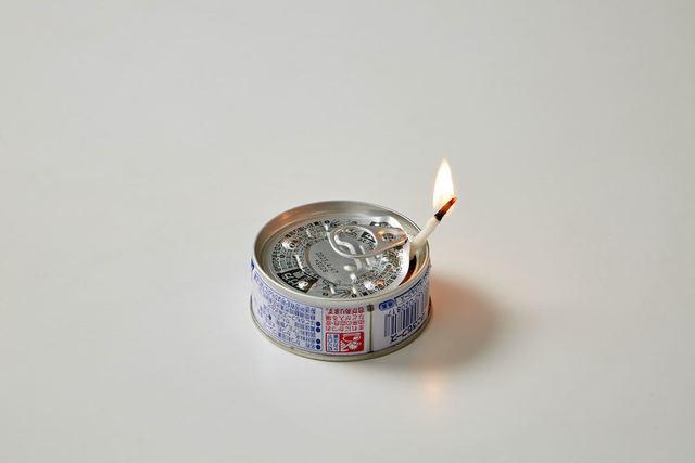 ツナ缶でつくる簡易ランプ