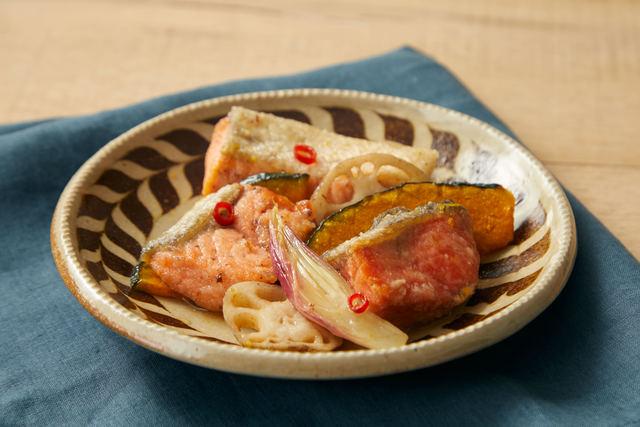 秋鮭と野菜の南蛮漬け