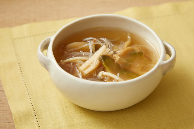 春雨とザーサイのうまみスープ