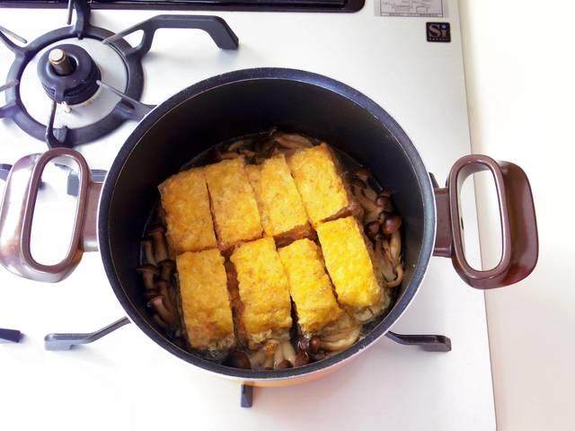 沸騰したらコンロ調理タイマーを10分に設定して煮る