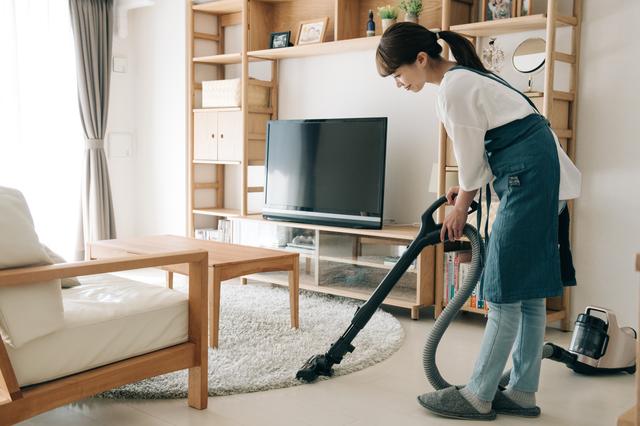 リビングの掃除