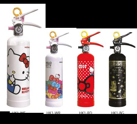 キャラクターがデザインされた消火器