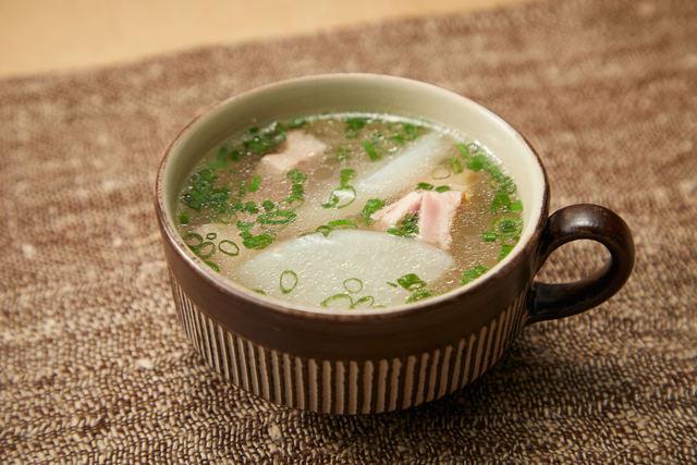 「ベーコンと大根のスープ」