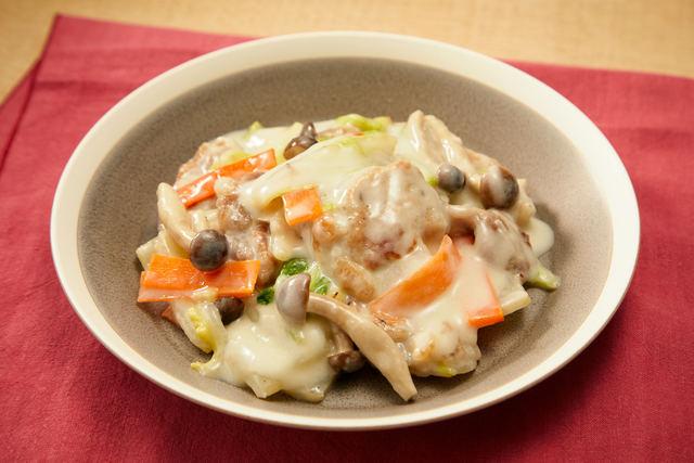 白菜と豚肉のクリーム煮